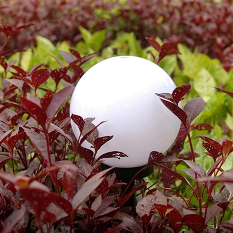 Lámpara Solar LED blanca para decoración de caminos, luz de bola blanca...