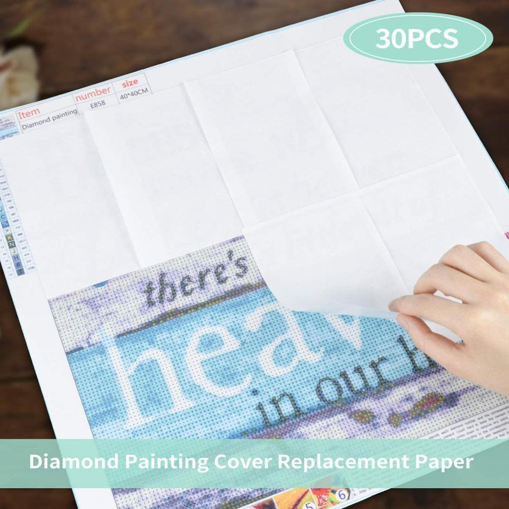 Herramientas de pintura de manualidades de diamantes tamaño A5, accesorios de papel de liberación, reemplazo de cubierta de pintura de diamante