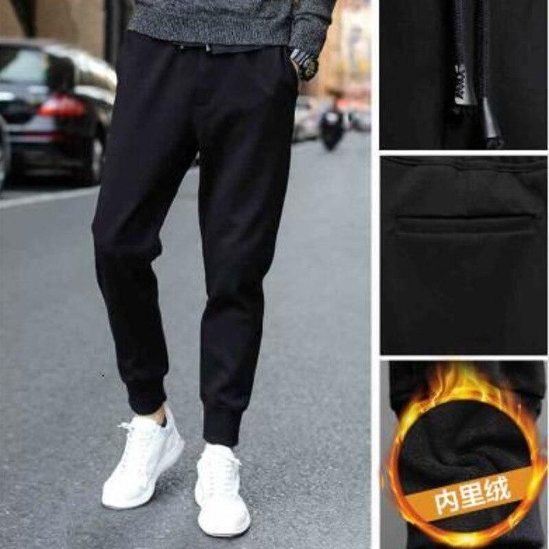 Утепленные повседневные брюки, зимние плюшевые мужские спортивные беговые джоггеры, брюки, мужские спортивные брюки