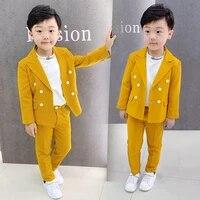 flower boys wedding dress jackets pants 2pcs formal suit kids birthday party clothing set children brand blazers suits