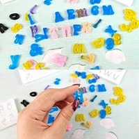 3 pcsset mini letters resin molds small silicone number alphabet epoxy casting mould for diy crafts keychain pendant