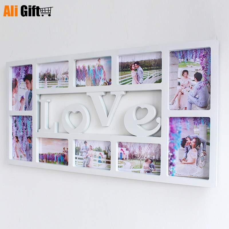 Hot Selling Newest A European Style Creative Conjoined Frame Lovefamily Photo Wall Studio Wholesale Popular Style Supply