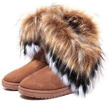 Kerst Faux Bont Laarzen Vrouwen Snowboots Warme Enkellaars Vrouw Solid Boot Bottes Femme Hiver Lente Meisje Booties Dames schoenen