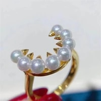 diy gemstone oysters pearls making jewelry design ring base classic resizable 925 sterling silver accessory for women gift