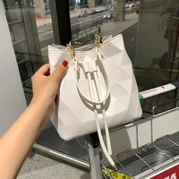 fashion new women bucket bag shoulder handbag high quality pu leather handbags crossbody bag tote messenger bags purses