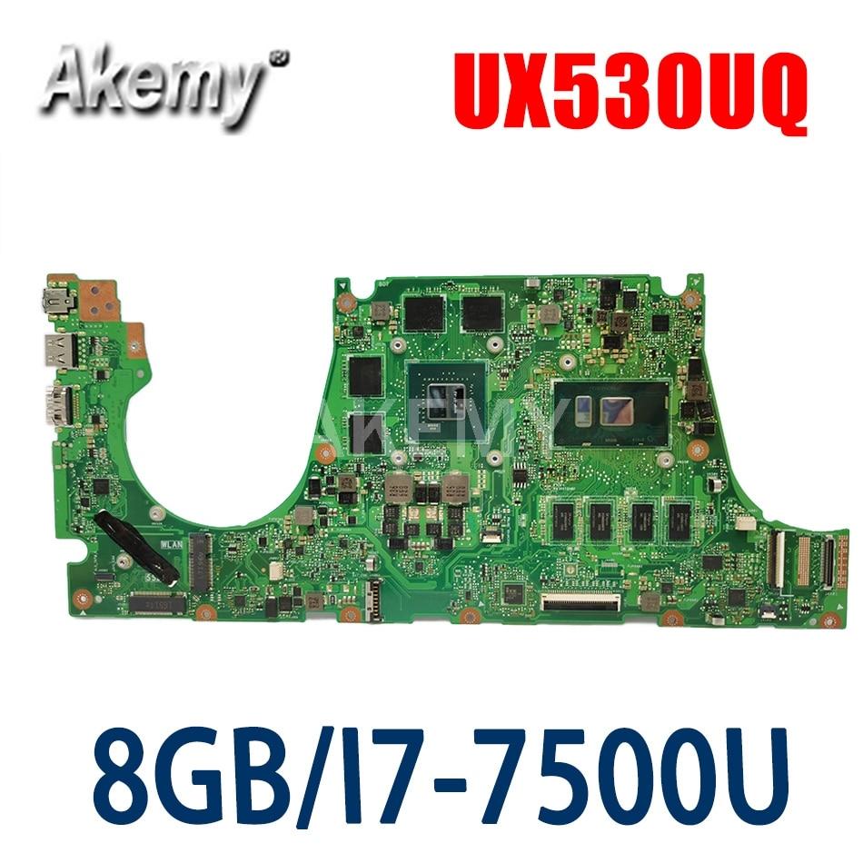 لوحة أم جديدة للكمبيوتر المحمول 90NB0EG0-R00020 لأجهزة Asus UX530U UX530UQ UX530UN UX530UR UX530UX اللوحة الرئيسية 8G / I7-7500U SR2ZV