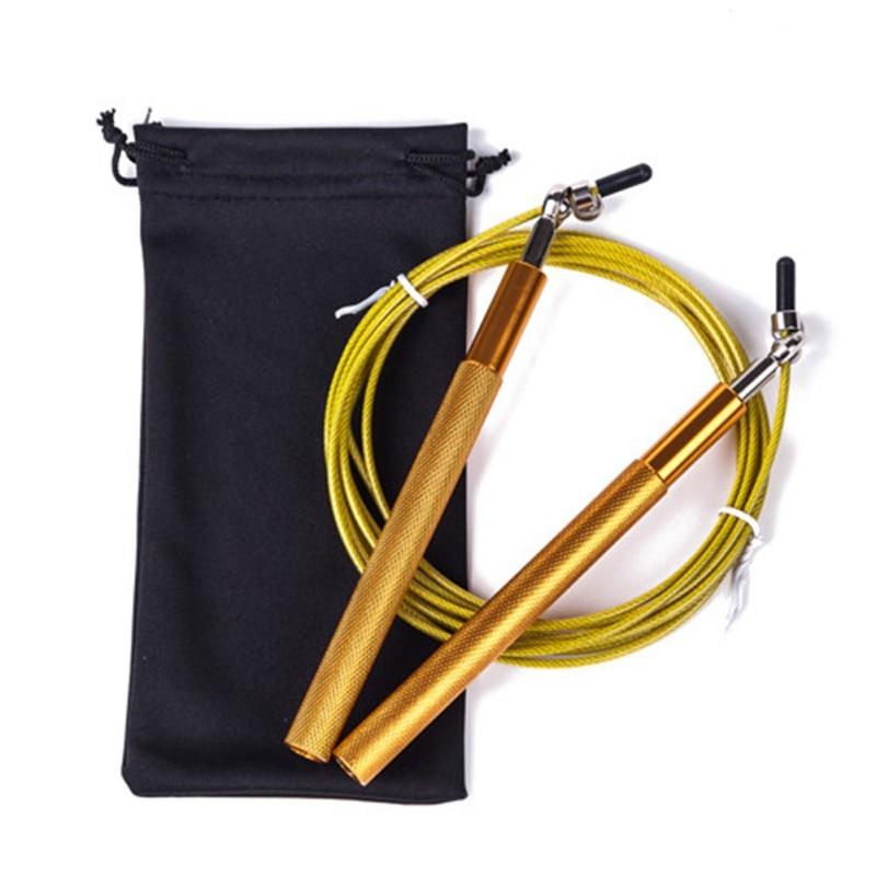 Cuerda de saltar de velocidad 3M con mango de METAL ajustable para cuerda de saltar cuerda de corda boxeo Fitness salto entrenamiento