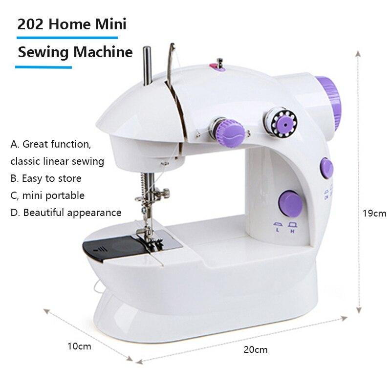 Gran oferta, máquina de coser de escritorio, Mini herramienta eléctrica portátil de mano, de doble velocidad, para el hogar, DIY, ropa, accesorios de costura