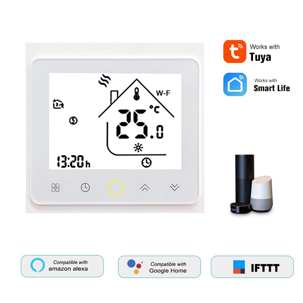 Water/Gas Boiler Thermostat Smart WiFi Digital Temperature Controller Tuya/SmartLife APP Control for Amazon Echo/Google Home