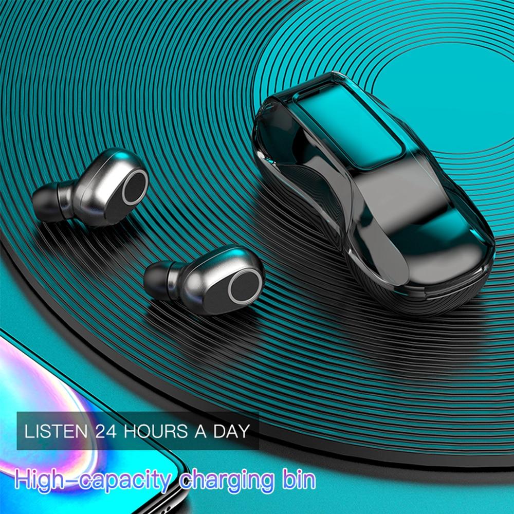 2020 nuevos auriculares inalámbricos deportivos en forma de coche caja de carga Bluetooth 5,0 control táctil auriculares estéreo impermeables
