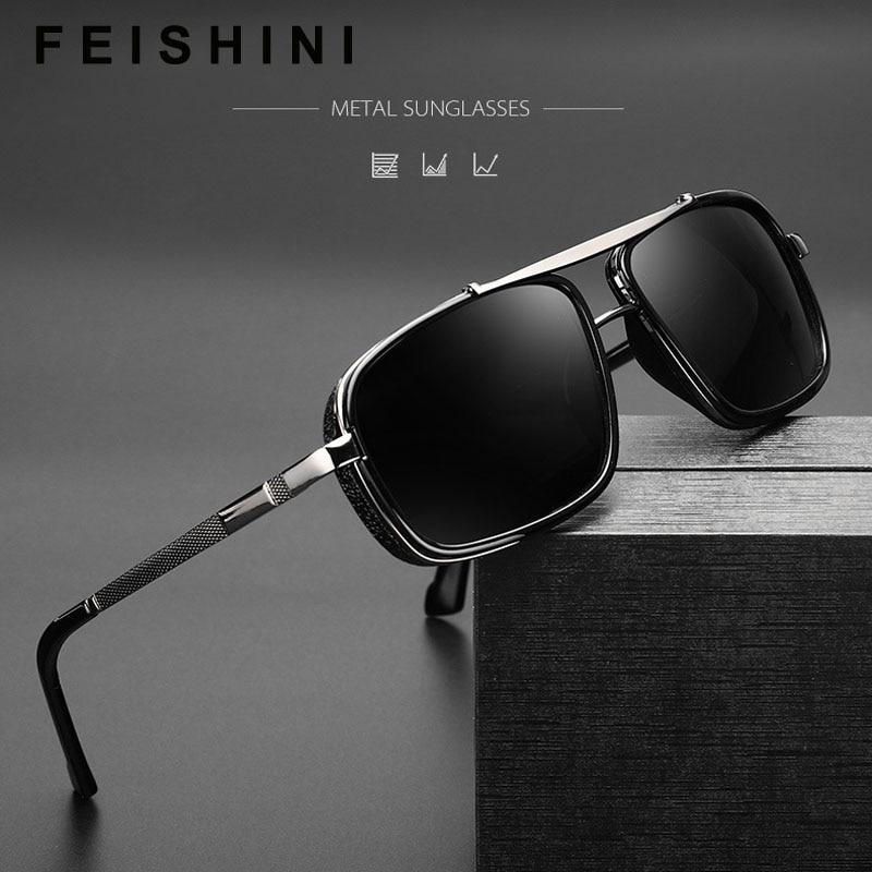 Halley Retro Steampunk Sunglasses Men Polarized Brand Designer Driver Safety Goggle Outdoor Eyewear Man Shades UV Protection