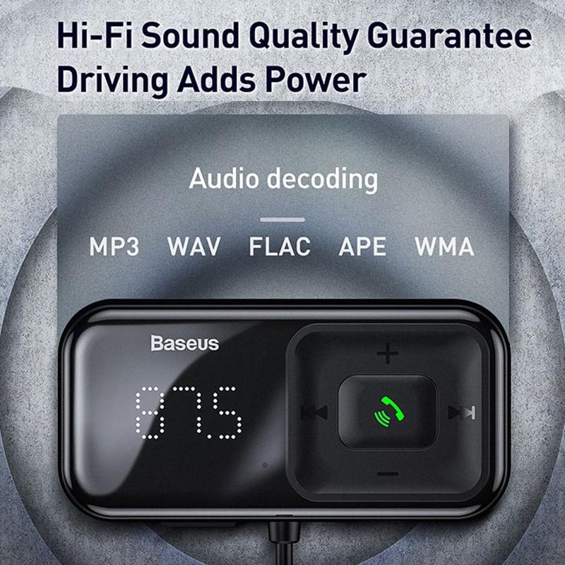 Baseus Fm Modulator Transmitter Bluetooth 5 0 Fm Radio 3 1a Usb Car Charger Handsfree Car Kit Wireless Aux Audio Fm Transmiter Fm Transmitters Aliexpress