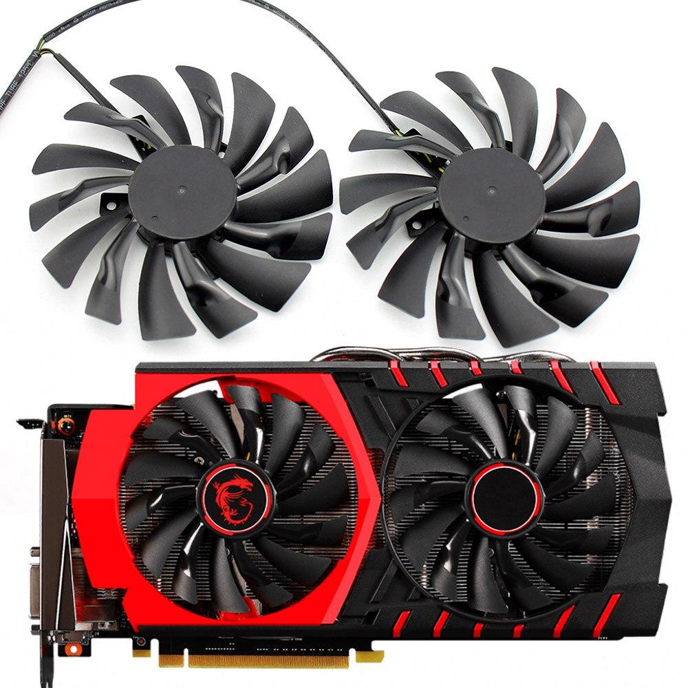2PCS/lot 95mm PLD10010S12HH 4PIN Cooler fan For MSI GTX 960 GTX980Ti GAMING GTX 950 GTX 1060 RX 470 GAMING X Graphic Card Fan
