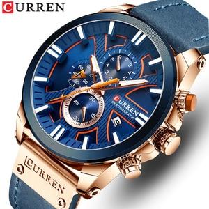 CURREN Men Watch Top Brand Luxury Sports Quartz Mens Watches   Waterproof Chronograph Date Wristwatch Clock Relogio Masculino