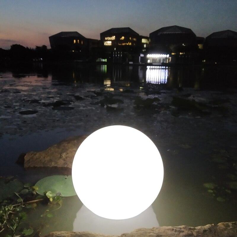 40cm solar piscina bola luz gramado ao ar livre luz decoracao do jardim luz de carregamento