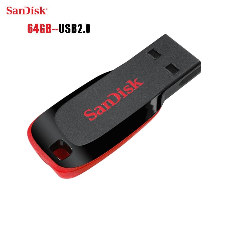 SanDisk Flash Disk USB Flash Drive Mini Pen Drive Pendrive  USB 2.0 Flash Drive Memory stick USB disk 64gb