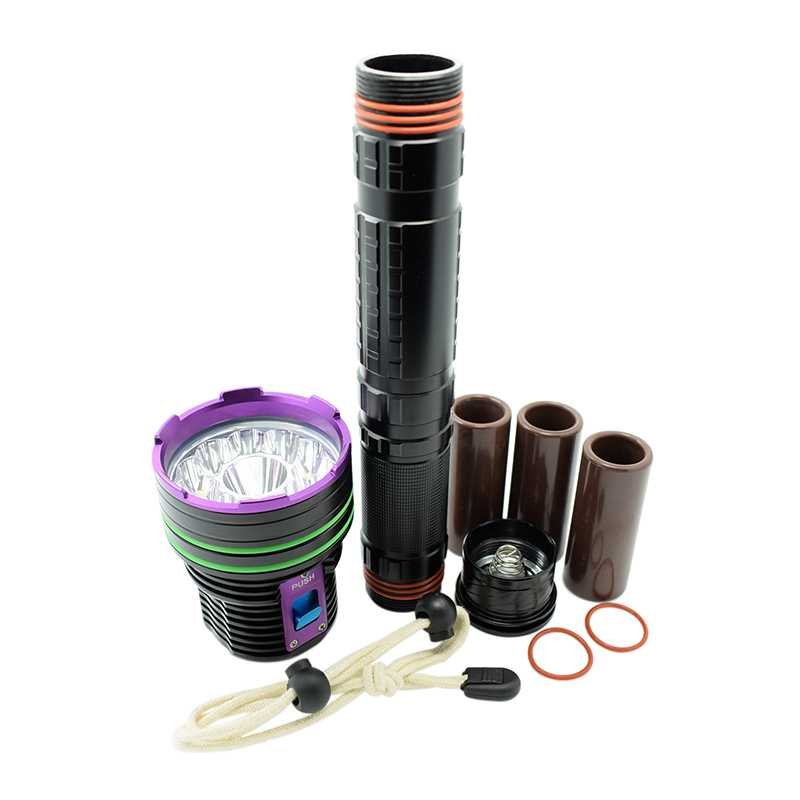 30000LM 12x XM-L2 Waterproof Dive Underwater 100 Meter Diving Flashlight Torches Light Camping Lanterna By 18650/26650 Battery enlarge
