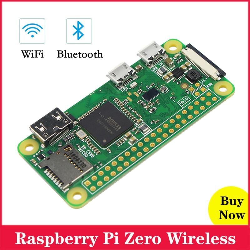 Original frambuesa Pi Zero W placa 1GHz CPU 512MB RAM con construido en Wi-Fi y Bluetooth frambuesa Pi Zero inalámbrico RPI 0 W