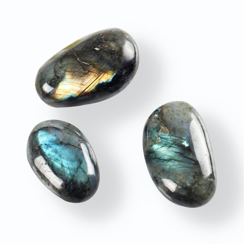 110g Natural Labradorite Tumbled Stone Kambaba Jaspere Healing Bead Point Reiki Chakra Large size Crystal Free Pouch Send Random