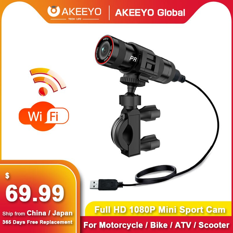 Review AKEEYO AKY-610L Bicycle Helmet Camera Fully Waterproof 1080P Motorcycle Dash Cam WiFi Built-in Battery Action Video Recorder