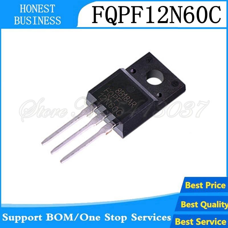 5 uds FQPF12N60C TO-220F 12N60C 12N60 TO220 FQPF12N60-220 nuevo MOS transistor FET
