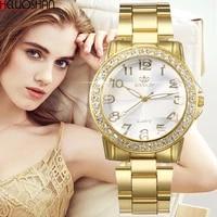 2021 luxury womens stainless steel chain belt quartz watches fashion bracelet clasp ladies gold silver wrist watch montre femme