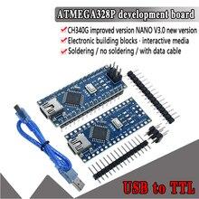 1 шт. акция для arduino Nano 3,0 Atmega328 контроллер совместимая плата WAVGAT модуль PCB макетная плата без USB V3.0