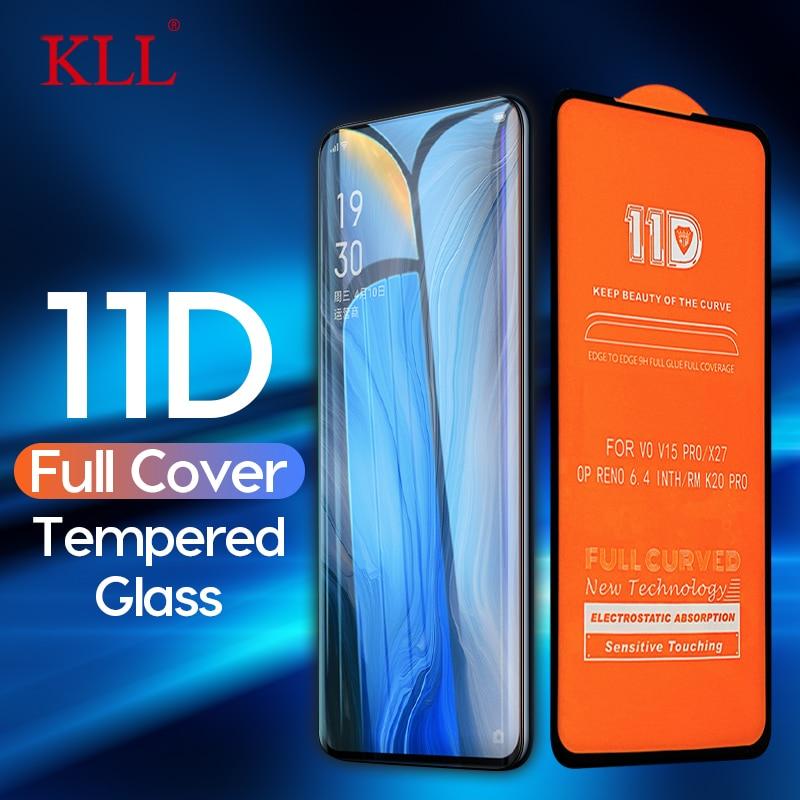11D curva de borde de vidrio templado para OPPO Reno 10x Zoom A1K A9 F11 Pro Protector de pantalla para OPPO verdadero yo 3 2 Pro 2 1 C2 C1 X vidrio