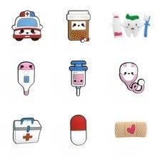 Seringue de réfrigérateur, pilules de stéthoscope médical, 1 pièce, aimant décoratif de réfrigérateur, accessoire mignon, aimants Souvenir