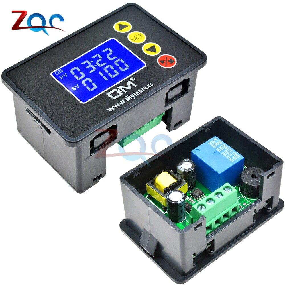 12V 24V 110 V-220 V 1,37 pantalla LCD microordenador controlador de tiempo temporizador demora relé módulo de Control programable para interior