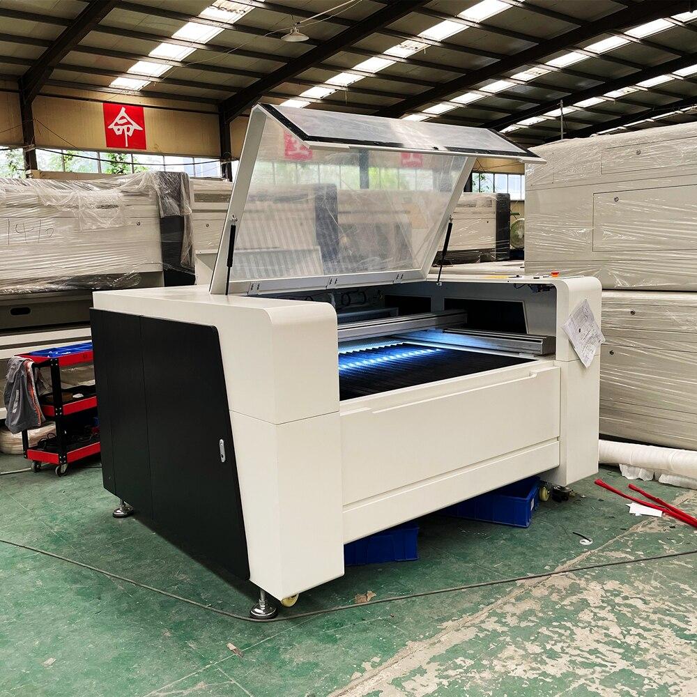 توفير المال تعزيز واحد آلة تقطيع بالليزر 1390 حجم المواد الطويلة تمر من خلال 150 واط على حد سواء قطع النقش آلة ثلاثية الأبعاد