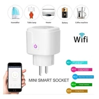 16A EU wifi Smart Plug with Power Monitor  wifi wireless Smart Socket Outlet with Google Home Alexa Voice Control