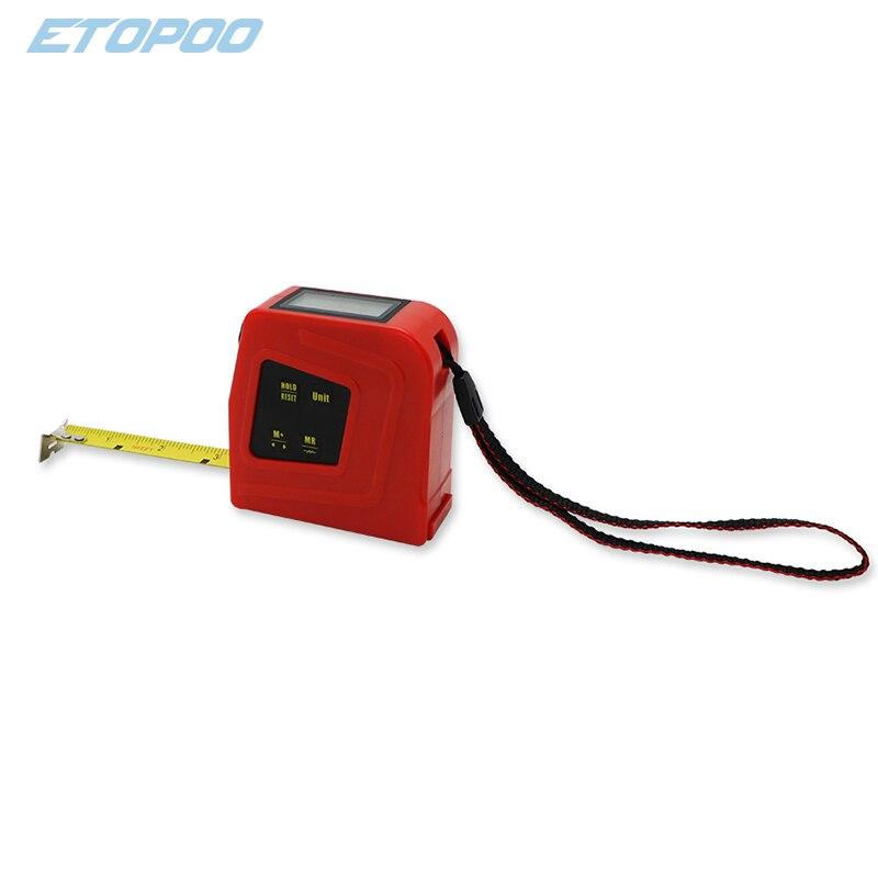 ETOPOO 5 м большой ЖК-дисплей цифровая рулетка цифровой Дисплей с средства ухода за кожей стоп/дюйм/метрическая Цельсия и Фаренгейта) электронная измерительная лента