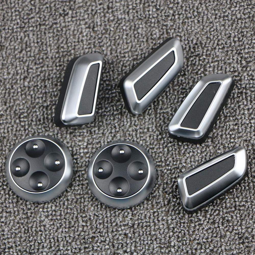 6pcs Seat Adjustment Knob Button Switch For VW Jetta MK5 GTI Passat B7 CC Tiguan for Audi Q3 Q5 A3 A4 A5 A7