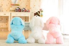 50 Cm jouets en peluche pour enfants LED couleur chien lueur en peluche jouets pour enfants fille, chouettes de nuit jouets en peluche jouets pour enfants