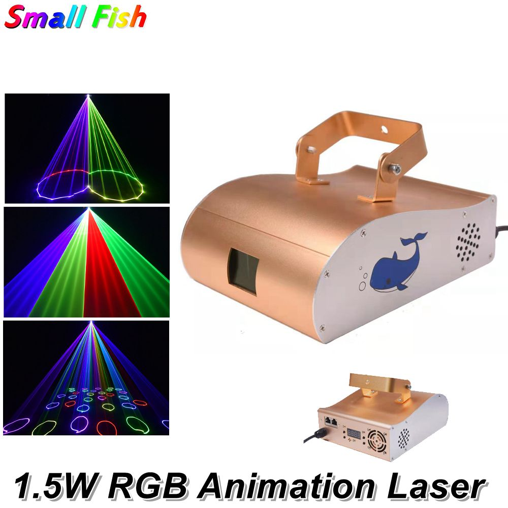 RGB Animation Laser Light 1.5W RGB Multi Color laser Light / Dj Lights/ Stage Light/ Laser Light/Laser Projector For KTV Disco