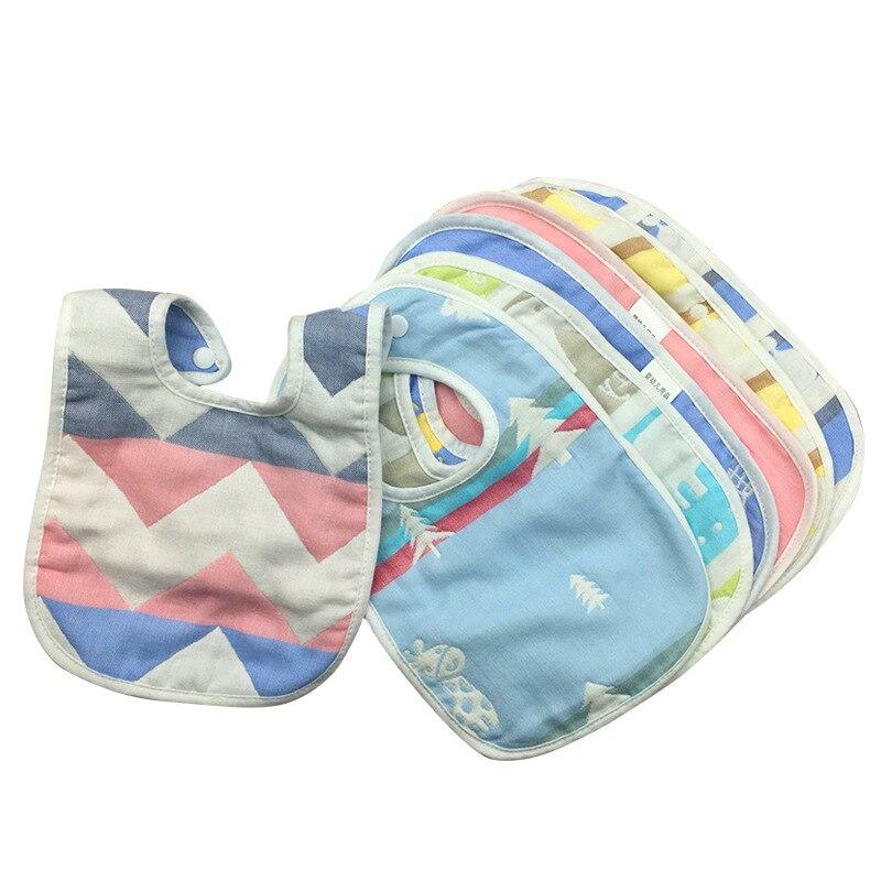 Детские нагрудники, слюнявчик для младенцев, полотенце для новорожденных девочек, мальчиков, детские нагрудники, хлопковый нагрудник, 6 сло...