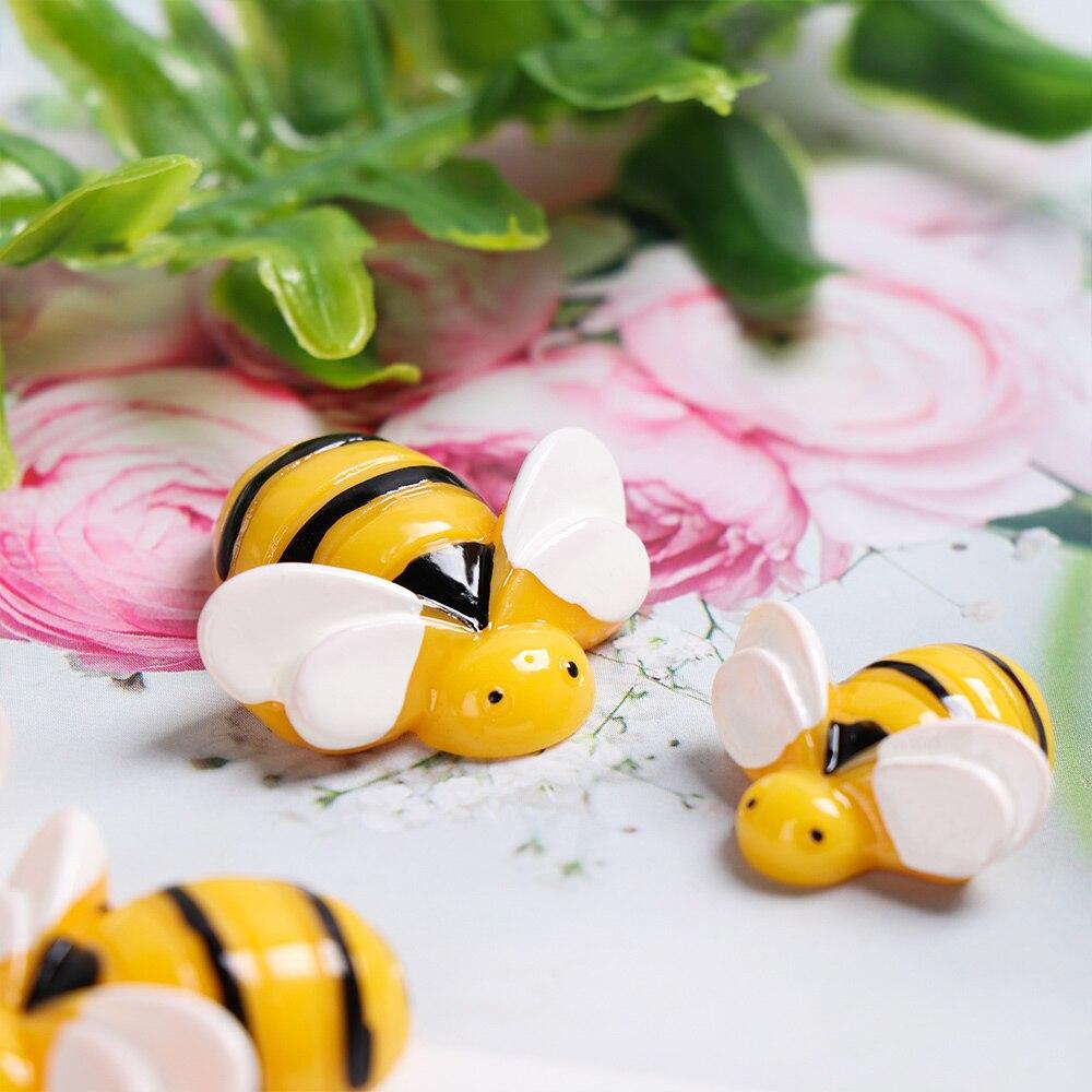 5 шт. полимерные желтые искусственные пчелы, миниатюрные Подвески с имитацией животных, детские игрушки, DIY Глиняное украшение для волос, укр...