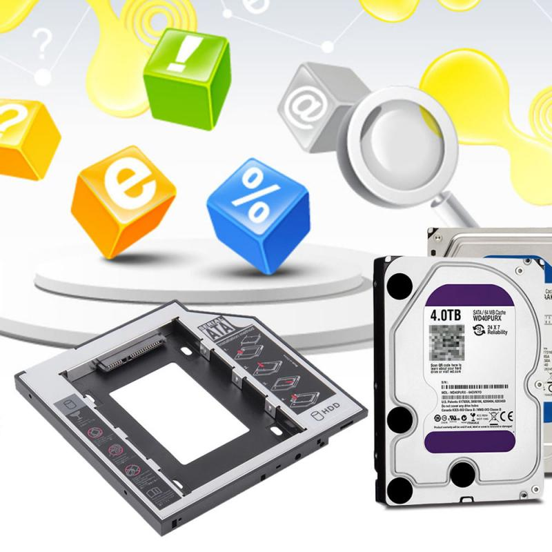 NEWEST 2nd HDD Caddy 12.7mm SATA For 2.5
