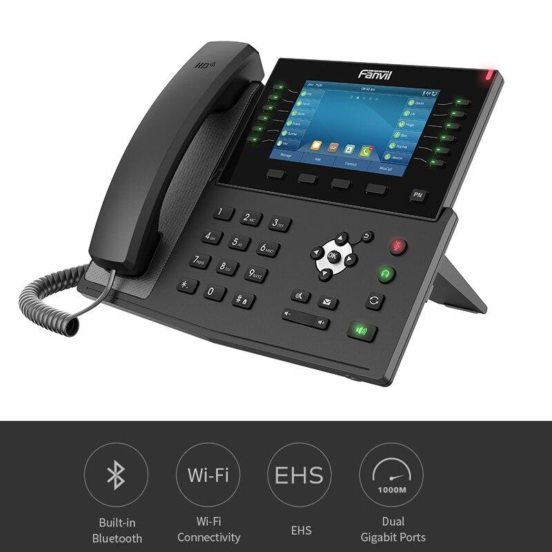 X7C Fanvil IP telefon dahili Bluetooth kablosuz telefon IP kamera ile HD görüntülü görüşme iş ofis VoIP SIP sabit telefon