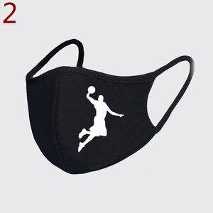 Смешная маска для взрослых из ледяного шелка с принтом баскетбола, моющаяся многоразовая маска для косплея на Хэллоуин, женские шарфы, маски