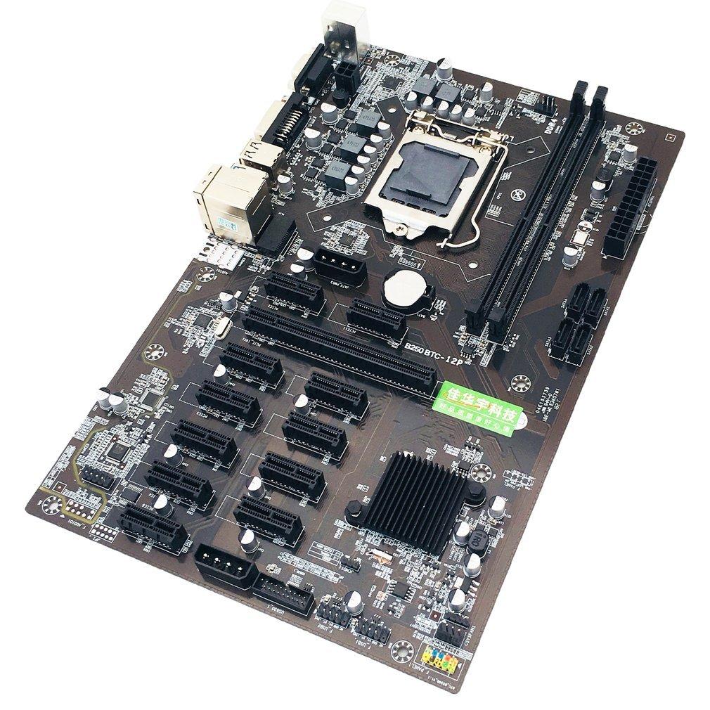 جديد B250 التعدين اللوحة 12 وحدة معالجة الرسومات بيتكوين التشفير ايثروم التعدين JW B250P B250-BTC برو DDR4 LGA 1151 اللوحة الأم