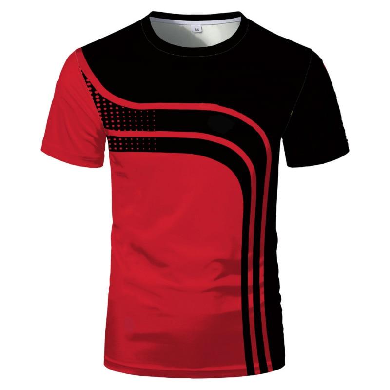 Men's Women's O-neck Short Sleeve T-shirt Fashion 3D Printing Breathable Fitness Sportswear Summer N