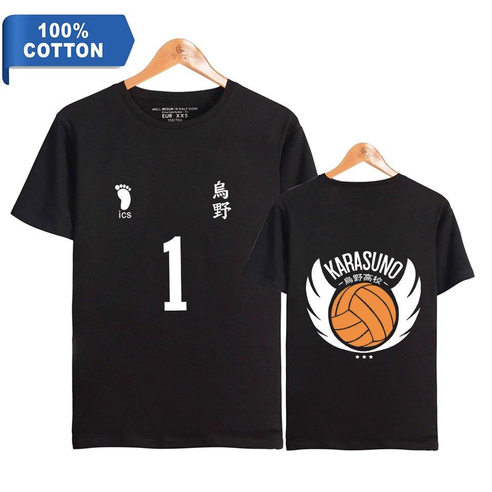 Camiseta, disfraz haikyuu, disfraz de uniforme, figura 3D, camiseta estampada, camiseta de manga corta bokuto hinata, camiseta negra, camisetas de verano