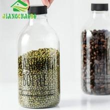PET Food Storage Box Plastic Clear Container Set with Pour Lids Kitchen Storage Bottles Jars Dried Grains Tank