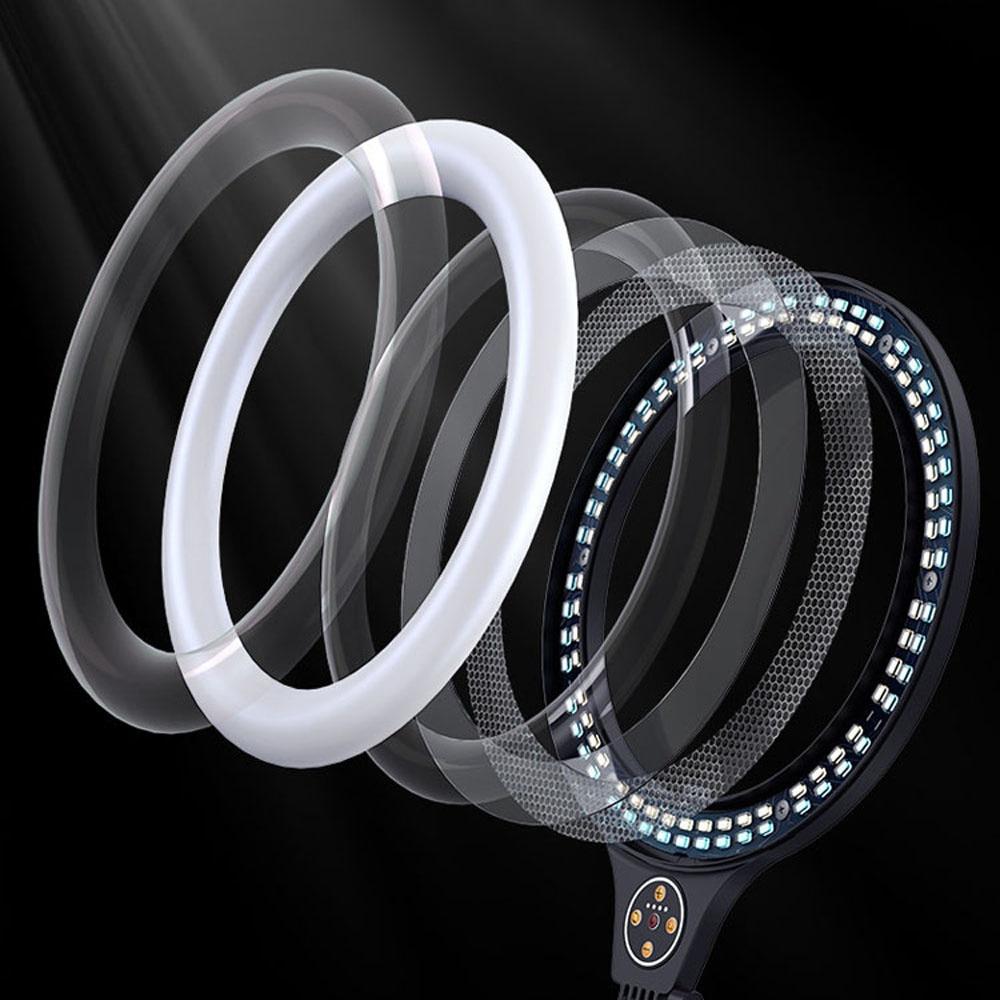 LED Selfie Ring Light Lamp With Tabletop Tripod For Photography Video Vlog Makeup Phone Holder Monopod Mount Bracket Stand NE060 enlarge