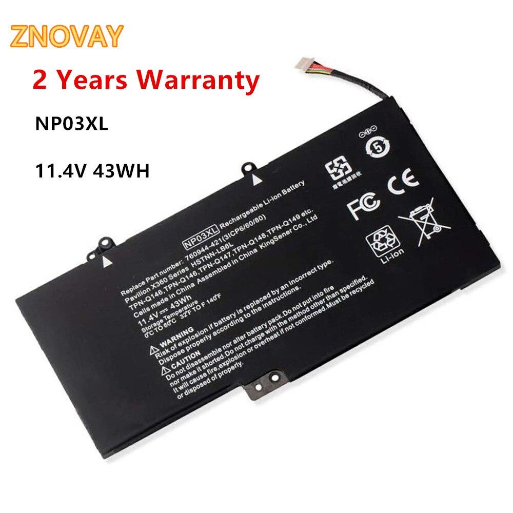 11.4V 43WH HP NP03XL Notebook Battery for HP Pavilion X360 13-a010dx 13-b116t HP Envy X360 15-u010dx 15-u111dx