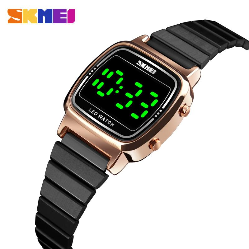 Top Brands SKMEI Fashion Watch Women Luxury 3Bar Waterproof Ladies Sport Watches Small Dial led Digital Watch Relogio Feminino enlarge