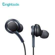 Brightside orijinal 3.5mm kablolu Stereo kulaklık derin bas müzik spor kulaklık Hands-free çağrı mikrofon ile