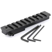 105mm/ 4.15 pouce court portée de fusil Picatinny Weaver Rail supports avec clé pour vue arrière/modèle 91/30 M44 M38 M39 chasse tactique